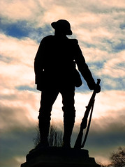 Lest We Forget (Beardy Vulcan) Tags: autumn england fall silhouette statue soldier war december wwi hampshire tommy worldwari rememberance winchester greatwar lestweforget winchestercathedral 2013 itchenvalley britishsoldier kingsroyalriflecorps