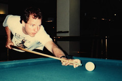Jim Shooting Pool (edenpictures) Tags: nyc newyorkcity eastvillage film pool manhattan scanned 1994 cueball amsterdambilliards