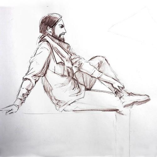 Виталий. Акварельный карандаш, рисовалось на артджеме.