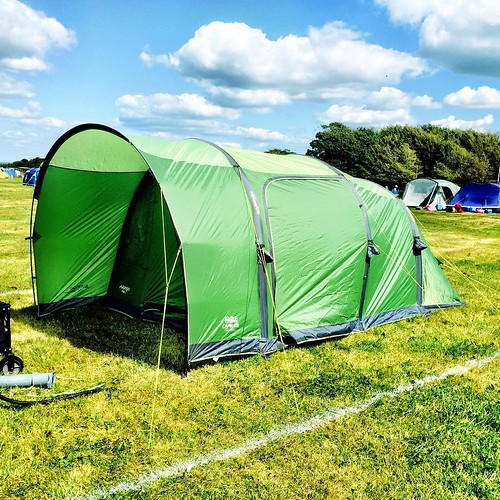 We have erection!!! 😏 our .@vango #tent is up! #camping #campbestival #campingvirgins #tppb