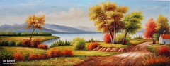 Autunno Giallo, Art Painting / Oil Painting For Sale - Arteet™ (arteetgallery) Tags: arteet oil paintings canvas art artwork fine arts landscape tree sky summer season autumn grass scenery clouds outdoors plant water natural trees sunny fall yellow travel lake cloud meadow spring scene november holiday color colorful field rural environment outdoor scenic reflection horizon country mountain bright design landscapes pastorals lime