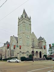 First Presbyterian Church, Vicksburg (StevenM_61) Tags: cityscape church presbyterianchurch architecture romanesquerevival tower vicksburg mississippi