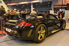 Gemballa Mirage GT Gold Edition (Monde-Auto Passion Photos) Tags: auto automobile voiture vehicule gemballa porsche carrera gt mirage gold edition coupé supercar sportive france paris retromobile evenement