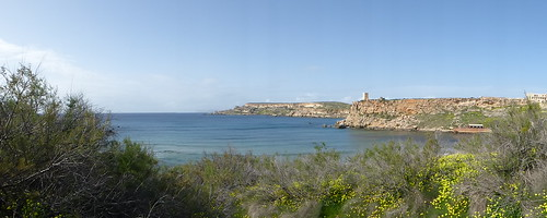 Ghajn Tuffieha Bay Panorama 170226_315p