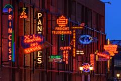 Neon Sign Museum, Edmonton (WherezJeff) Tags: edmonton neonsignmuseum bluehour dawn twilight urban alberta canada ca