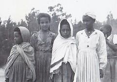 Girls of Ethiopa 1953 (Bury Gardener) Tags: ethiopia africa 1950s 1953 bw blackandwhite oldies old snaps people