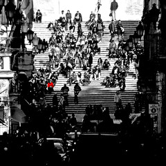 Roma, Scalinata di Trinità dei Monti (pom.angers) Tags: panasonicdmctz30 rome roma lazio italia italy europeanunion scalinataditrinitàdeimonti february 2017 people police crowd 100 150 200