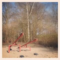 Spielplatzurzeitwesen. #iseedinosaurs (alexebel) Tags: instagram iphone4
