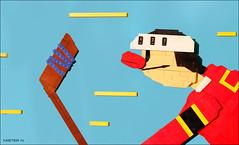 Puck! Puck!! (1964) (Nikita Nikolsky) Tags: cartoon lego hockey moc mosaic
