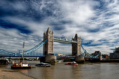 """Tower Bridge"" (helmet13) Tags: d800e raw travel london towerbridge riverthames architecture building bridge iconicsymbol summer sunshine sunday unitedkingdom city historicbuilding sightseeing sky clouds sunlight aoi heartaward peaceaward platinumpeaceaward platinumheartaward 100faves world100f"