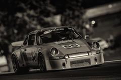 1973 Porsche 911 (speedcenter2001) Tags: roadamerica porsche 911 iroc elkhartlake elkhart wisconsin vintage vintageracing motorsports 600mmf40edifais nikon600mmf40edifais teleconverter tc14eii manualfocus silverefexpro2 sep2 monochrome blackandwhite classic historic