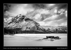 Frozen Lake Minnewanka with the boat house, Banff National Park, Alberta (kgogrady) Tags: banffnationalpark boathouse lakeminnewanka landscape winter banff alberta canada