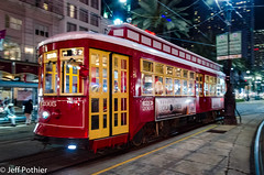 A streetcar named... (vlxjeff) Tags: nikon d70000 neworleans canalstreet night streetcar red travel city nighttime