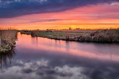 Sunset in the Westzijderveld (a3aanw) Tags: hdr westzaan zonsondergang lucht d800 koogaandezaan westzijderveld sunset sky windmill molen watertoren 1835mm nikon