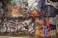 Anonymous (Curtis Gregory Perry) Tags: boise idaho graffiti anonymous alley paint character figure piece mural west elm sign park parking lot night longexposure nikon d810 freak art