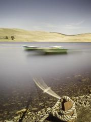 Daer Reservoir (TrotterFechan) Tags: daerreservoir boat boats longexposure