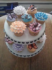 Butterflies and Flowers cupcakes for a Big Brothers and Sisters Event, Milwaukee, Wisconsin, www.birthdaycakes4free.com