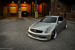 Champagne G35 on SSR's (BobbySanders22) Tags: sunset skyline canon nissan g champagne low wheels adobe static ssr rims coupe g35 lowered infiniti slammed stance lightroom g37 60d stanceworks southrnfresh canibeat stancenation loweredlifestyle