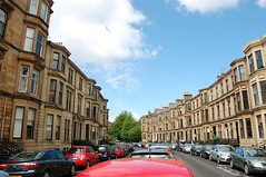Dowanside Road (Wider World) Tags: scotland sandstone glasgow parking westend tenement dowansideroad