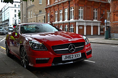 Mercedes SLK 6.3 AMG (kurzew) Tags: uk red england london italia exotic showroom amg supercars f40 slk 458 hypercar merceses redferraricombotestarossa grzegorzkurzwegkurzew