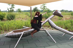 IMG_2050 (KuriTheElf) Tags: cosplay wildlife elf corset redhair lyna blacktights leatherboots