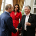 First Minister Peter Robinson meets Russian President Vladimer Putin  and  Secretary of State For Northern Ireland Theresa Villiers at the beginning of the G8 Summi