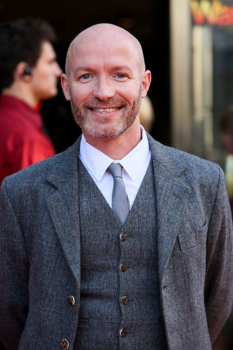 Craig Hill arriving on the red carpet for Breathe In at the Festival Theatre