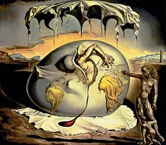 DALI-Geopoliticus child watching the birth of a new man