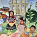 Murales del municipio che racconta la storia delle lotte in Guatemala