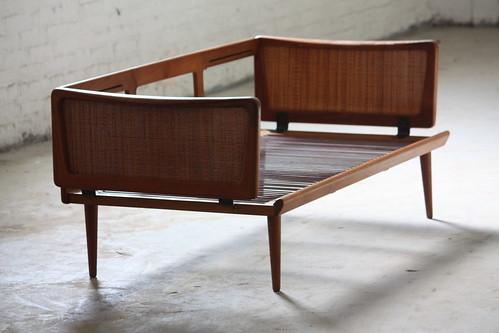 Brilliant Peter Hvidt Danish Mid Century Modern Teak Convertible Sofa  Daybed For France U0026 Sons Model