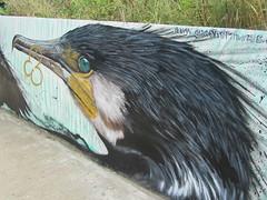 UK - London - Walthamstow - Walthamstow Marshes - Cormorant mural (JulesFoto) Tags: uk england london mural cormorant walthamstow birdofprey gnasher walthamstowmarshes leevalleypark muralonthemarsh