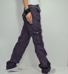 Ladies candy-colored cargo pants