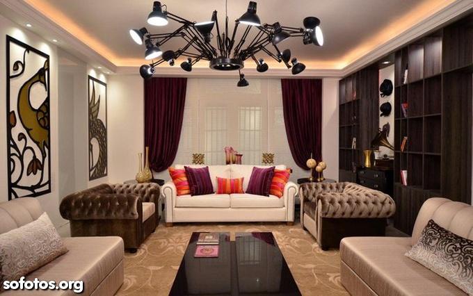salas planejadas e decoradas