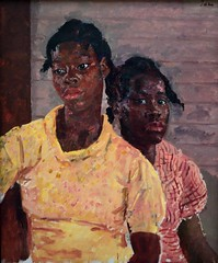 Two Jamaican Girls (1937), Augustus John (bodythongs) Tags: girls two portrait england art english look yellow wall museum modern liverpool john painting nikon gallery dress kunst muse dessin peinture walker jamaica painter deux british jamaican gaze edwin filles augustus huile merseyside galrie d5100 bodythongs
