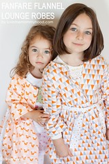 Fanfare Flannel Lounge Robes (Very Shannon) Tags: coral triangle robe sewing peach sew fox flannel organic sewn robes madebyrae luvinthemommyhood cloud9fabrics veryshannon fanfareflannel