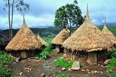 Monk's Huts, Ethiopia (Rod Waddington) Tags: africa church mud traditional monk hut ethiopia orthodox ethiopian gondar tigray