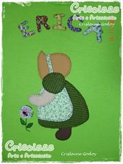 CAMISETA SUNBONNET FLOR (CRICOISAS by Crislaine Godoy) Tags: handmade artesanato craft tshirt patchwork camiseta camisetas aplicação apliqué artesanatobrasileiro cricoisas artesanatocapixaba handmadefrombrazil
