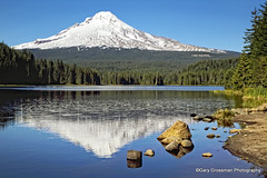 Mt. Hood (Gary Grossman) Tags: mountain lake nature oregon reflections landscape volcano trillium natural peak cascades mthood hood multnomah trilliumlake wyeast stratovolcanic