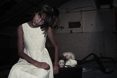 The ghost shoot (ed.peaceout) Tags: lighting eye halloween beauty fashion photoshop photography death pain eyes zombie decay surrealism evil surreal ghosts concept mythology supernatural