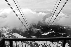 Mt. Pilatus - Lucerne, Switzerland (The Web Ninja) Tags: travel blackandwhite bw white mountain black mountains alps nature canon photography rebel switzerland photo swiss luzern cable explore lucerne nocolor explored t2i