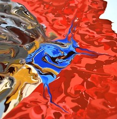 Gold and silver Butterfly - Abstract Poured Paintings (netter.barbara) Tags: abstractseascape abstractbutterflies abstractpouredpainting abstractpouredpaintings