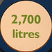 2700 litres