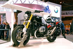 BMW R nineT (Sam Tait) Tags: show black bike race naked t cafe head muscle anniversary live nine inspired twin 90th german r oil bmw motorcycle boxer forks 90 900 usd racer nec motorrad 2014 ninet 2013 rnine