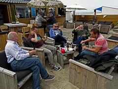 A drink in a Blakenberge Beach Bar (Sony HX300) (markdbaynham) Tags: camera city bridge urban beach bar belgium drink sony brugge bruges superzoom bruggen blakenberge hx300
