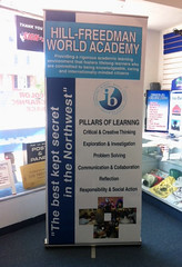 Banner Stand | Signarama Willow Grove, PA | Hill-Freedman World Academy