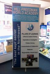 Banner Stand | Signarama Willow Grove, PA | Hill-Freedman World Academy