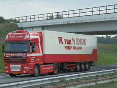 DAF FT XF105 460 (Capellenaar) Tags: holland netherlands truck t w lorry camion ft trailer van ende daf lkw 460 wezep xf105 spacecab