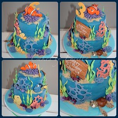 Finding Nemo (6) (cakesbylucille) Tags: birthday party cake nemo handmade tasmania edible dory launceston findingnemo decorator fondant buttercream gumpaste decoratedcake cakedecorating nemocake findingnemocake customcakes noveltycakes launcestoncakedecorator cakesbylucille