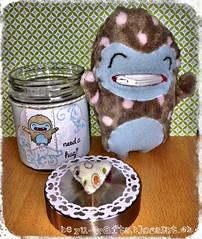 LF_Yeti1 (swissberu) Tags: gift jar yeti geschenk glas lawnfawn sorgenfresser