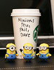 Minion Project Day 2 (k9cfa) Tags: coffee out time starbucks slackers minion